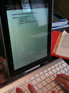 Typing on the iPad with a wireless Bluetooth keyboard | by Wesley Fryer