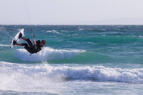 Kite Surfing, Tarifa, Spain | by pmorgan