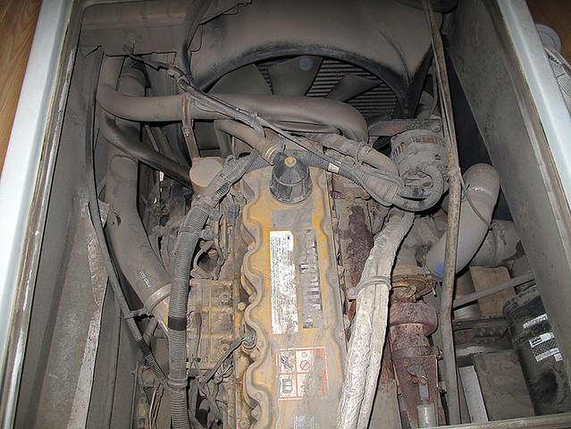Caterpillar 3126 Diesel engine in a motor home engine bay