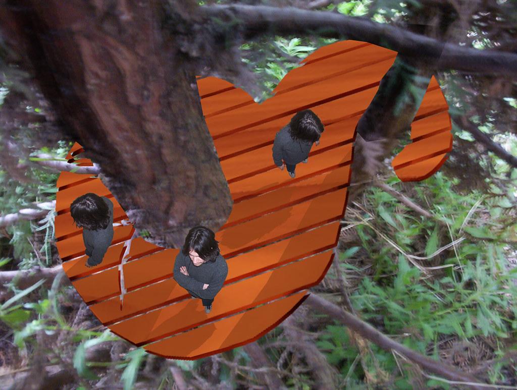 Plataforma Arbol Una Especie De Casa Terraza En Un árbol