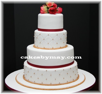 Gold And Burgundy Wedding Cake Cakes By Maylene Flickr