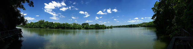 Tennessee River Panorama, Ijams Nature Center, Knoxville, Knox Co, TN