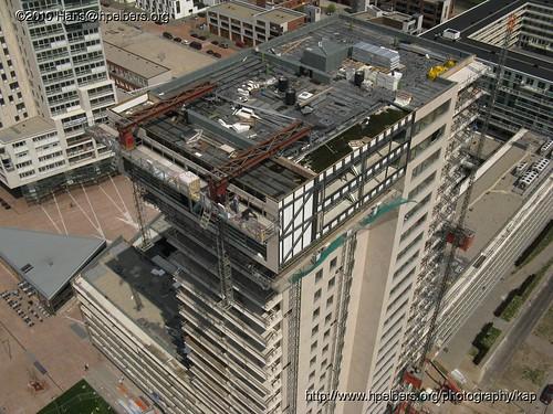 Miami-toren boulevard Nesselande vanuit de lucht mei 2010   by www.nesselande.info