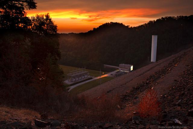 Sunset at South Holston Dam