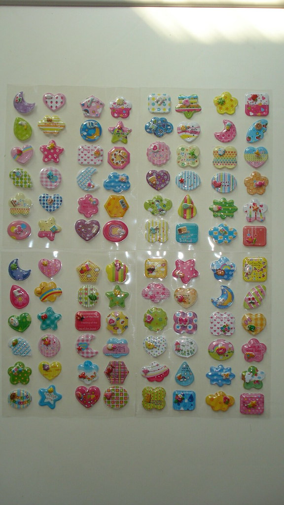 Shaking stickers