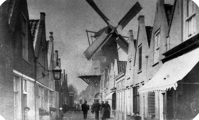 possibly the best picture ever taken of 'de Westdijk' in Middelharnis , Goeree-Overflakkee , the Netherlands , before the year 1898