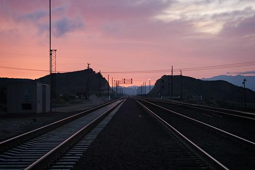 california railroad mountains sunrise dawn san 2009 bernardino muzzlehatch