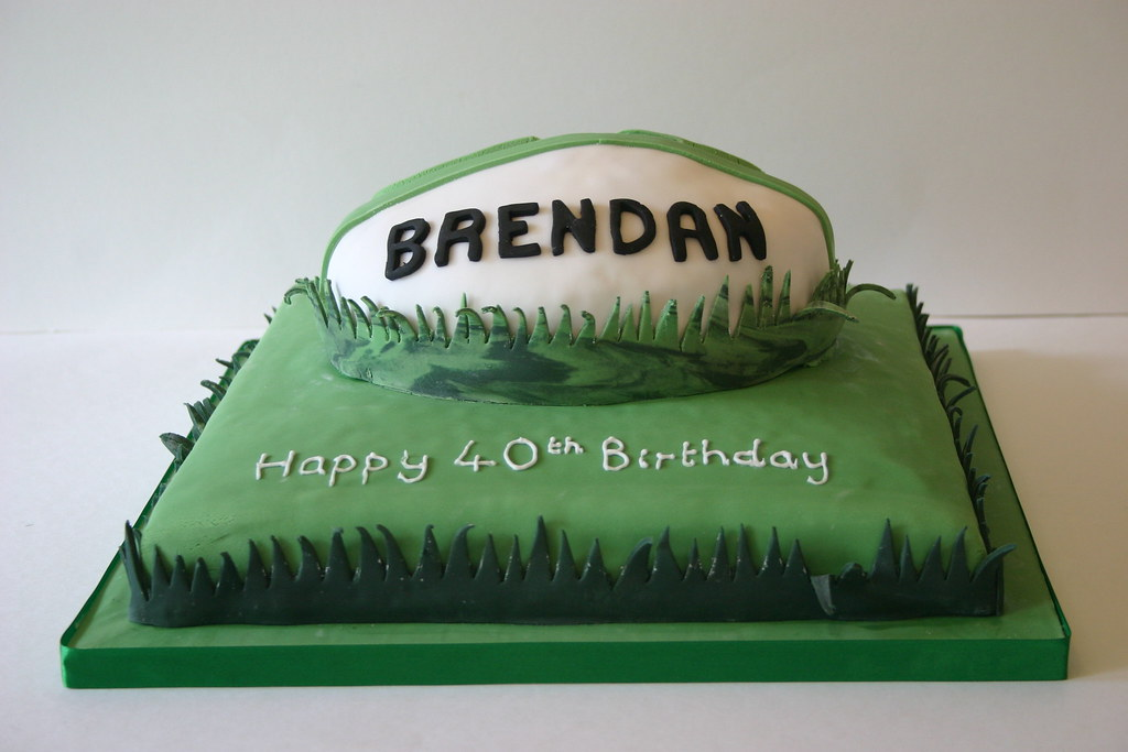 Outstanding Ireland Rugby Ball Cake Ireland Rugby Ball Birthday Cake Flickr Birthday Cards Printable Riciscafe Filternl