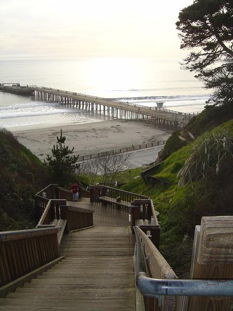 Stairs Rio del Mar Beach Aptos California