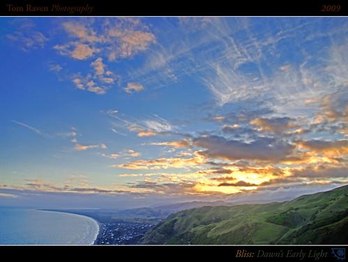ocean light sea newzealand sky sun mountains clouds sunrise reflections geotagged dawn coast interestingness surf framed explore land legacy 2009 hdr kapiti paraparaumu earlylight tomraven geo:lon=174938306 geo:lat=4100416 q209