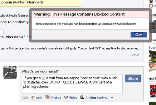 Facebook Phishing Scheme - Evil Status Update Blocking | Flickr