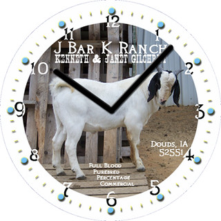 J Bar K Ranch Business Clock | by customclockface
