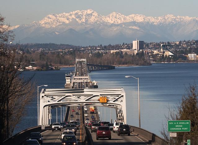520 floating bridge, Seattle