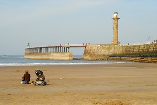 Beach and harbourmouth, Whitby   by Forest Pines
