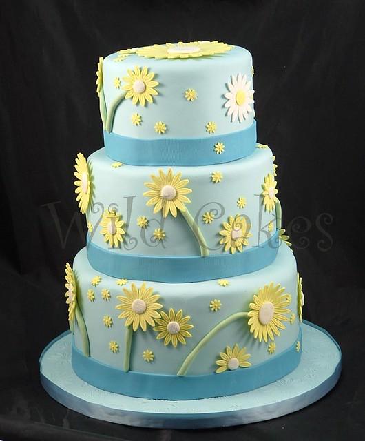 Easter Daisies Wedding Cake