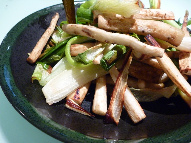 Roasted Leeks and Salsify