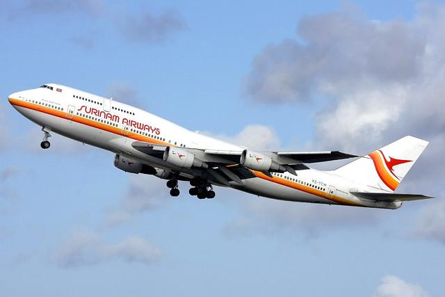 Surinam Airways Boeing 747-306(M) PZ-TCM