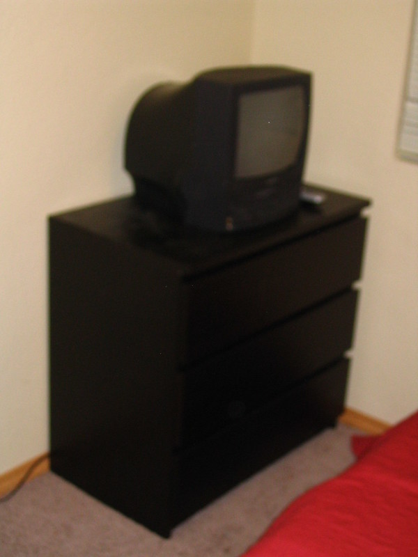 TV and dresser in Morgan's old room 2