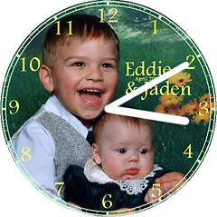 Eddie and Jaden Children Clock   by customclockface