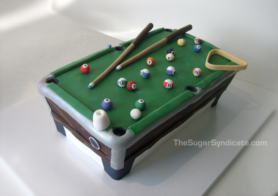 Miraculous Pool Table Birthday Cake A Photo On Flickriver Personalised Birthday Cards Akebfashionlily Jamesorg
