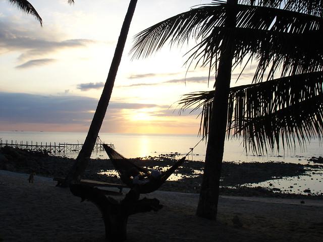 パンガン島の夕日1