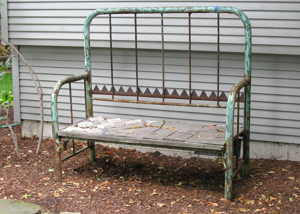 Pleasing Garden Bench Headboard And Footboard Bed Made Into A Garde Short Links Chair Design For Home Short Linksinfo