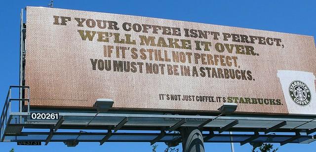 Starbucks Billboard A Billboard With A Photoshop Disaster