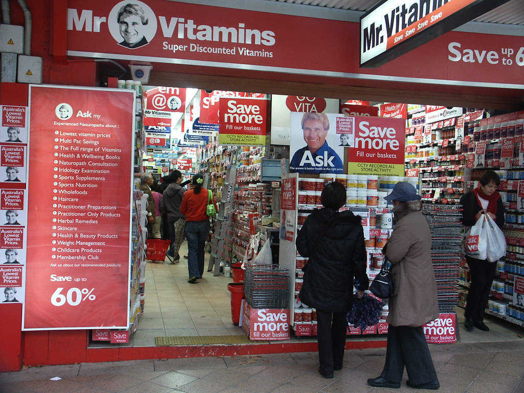 Mr Vitamin | Cheap vitamins, stacked high and low  Seems sus