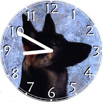 German Shepherd Pet Clock   by customclockface