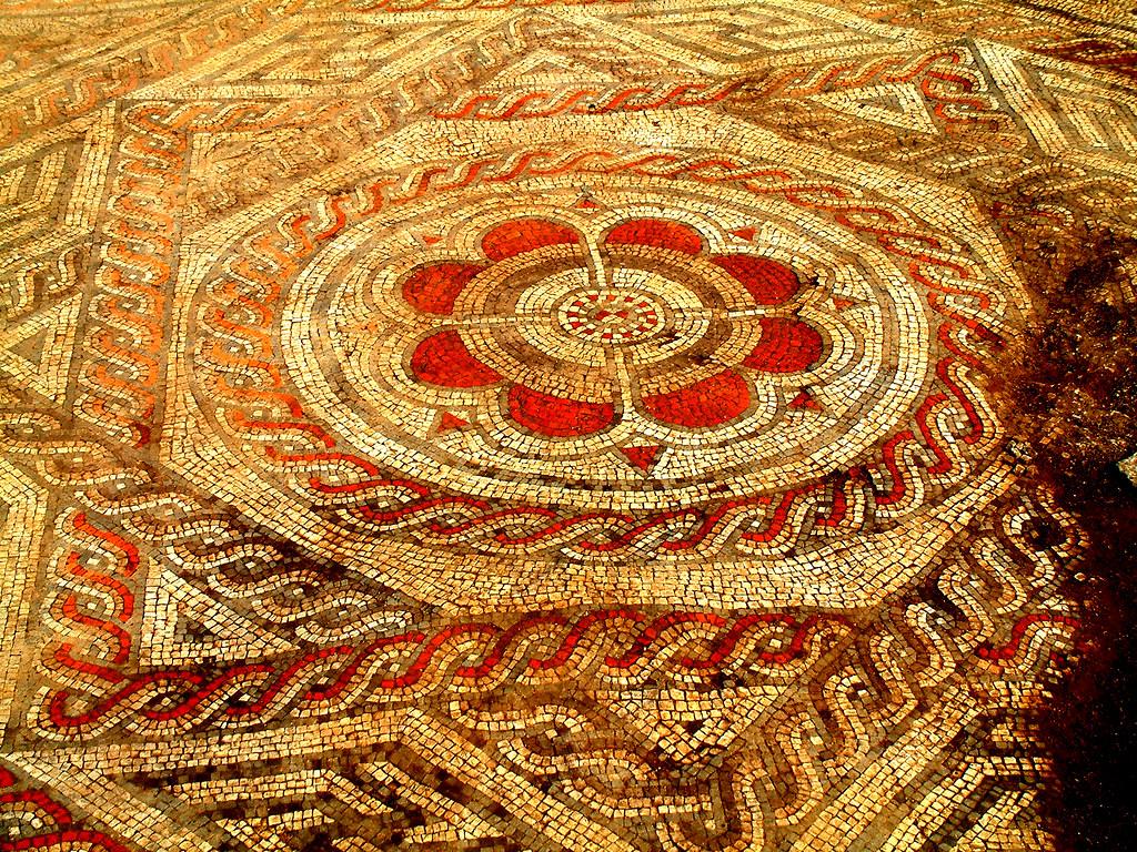 ... Roman Mosaic - Bradford Upon Avon   by Joanne Nicki Rossi