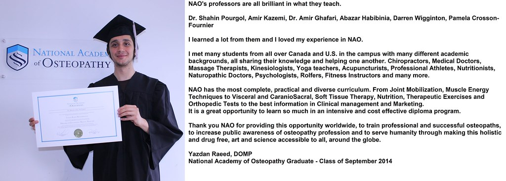 National Academy of Osteopathy Graduate Yazdan Raees | Flickr