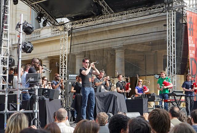 La fête de la musique au Palais Royal à Paris