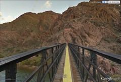 S. Kaibab Trail Bridge from middle of River