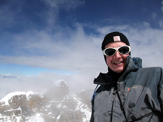 Me on the summit of Ritacuba Blanco (5410m) with Ritacuba Negro behind | by markhorrell