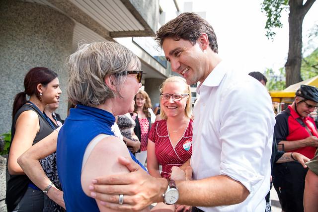 Justin Trudeau in Winnipeg. July 23, 2015.