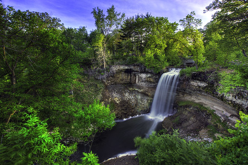 trees minnesota waterfall minnehahafalls