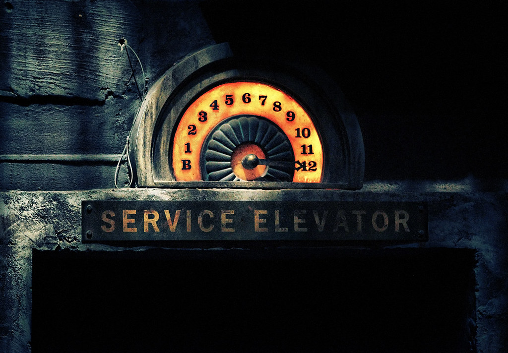 Disney - Service Elevator Detail by Express Monorail