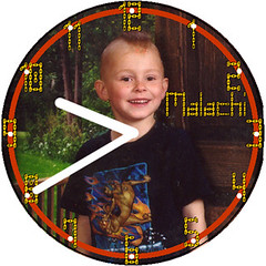 Malachi Child Clock | by customclockface
