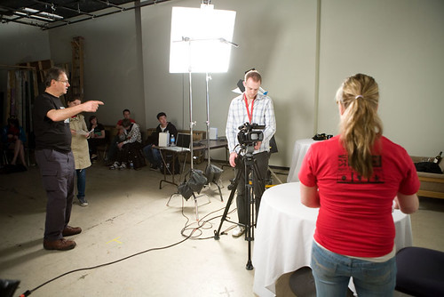 Student filmmakers attend workshops at VFS during the 2009 BC Student Film Festival
