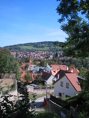 panoramic view of the other side of Cesky Krumlov
