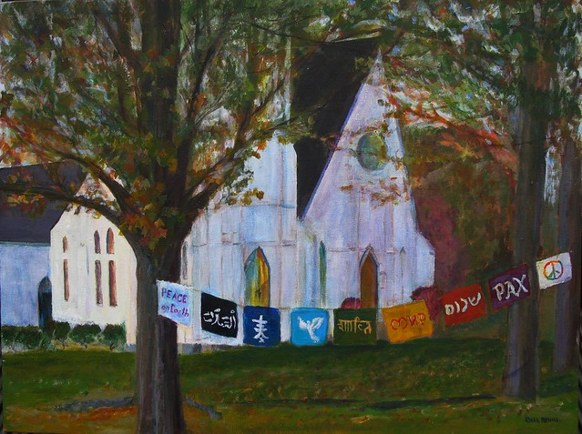 Guthrie Center Prayer flags - painting