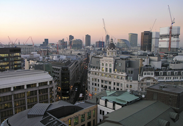 London - view from the Monument 1 - construction