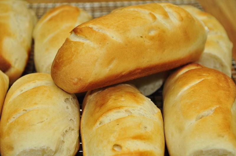 Mmm... fresh baked hoagie rolls