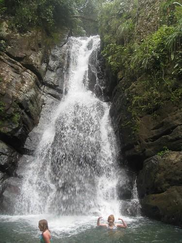Shawn in the waterfall at La Mina Falls, El Yunque Rainforest | by BluEyedA73