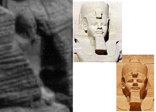 Pict mars alien carving of pharaoh statue or natural u flickr