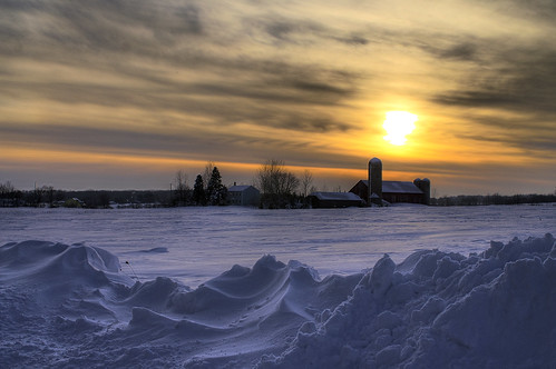 Wisconsin Farm Winter Sunset PICT4029_30_31_tonemapped