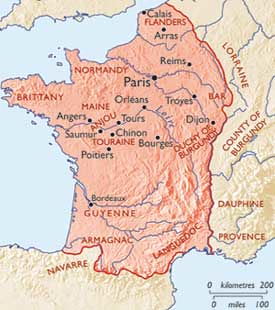 Map Of France With Key.Map Of France In 1450 Showing Key Angevin Sites History T Flickr