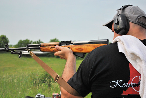 Washburn Shooting His Soviet Russian SKS