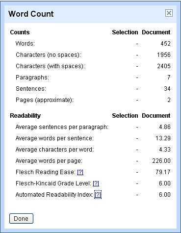 Google Docs Readability Stats | Thumbnail of Screen Shot use… | Flickr