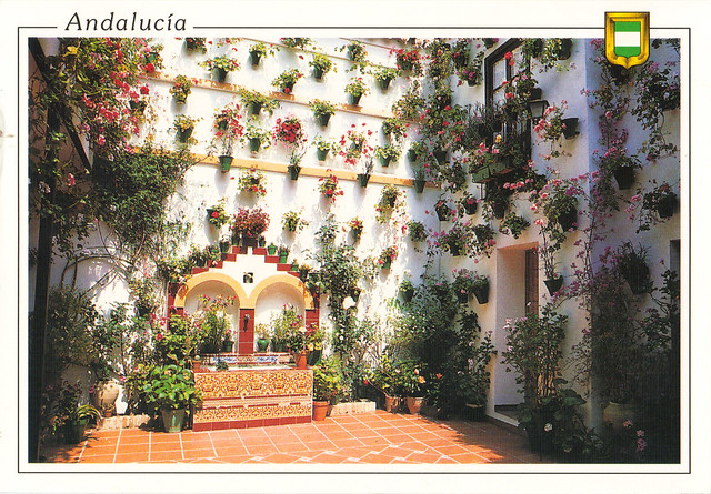 Andalucia, Spain Flower Walls Postcard